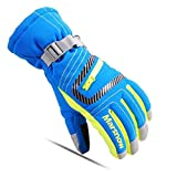 AngelicaAPCA Winter Warm Kids Ski Gloves Children Snowboard Gloves Waterproof Windproof, 2 Set