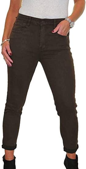 "High Waist Skinny Stretch Denim Jeans 31/"" Leg Indigo Blue NEW 12-22"