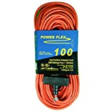 CEP Construction Electrical Products 1418 14-Gauge 3 Wire 100-Feet Orange Triple Tap Extension Cord