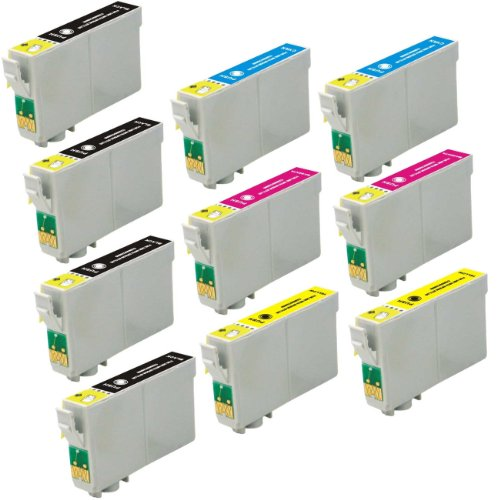 10 Pack Elite Supplies ® Remanufactured Inkjet Cartridge Replacement for #60 T060 T0601, Epson T060120 T060220 T060320 T060420 Works Epson Stylus C68, Stylus C88, Stylus C88Plus, Stylus CX3800, Stylus CX3810, Stylus CX4200, Stylus CX4800, Stylus CX5800F,