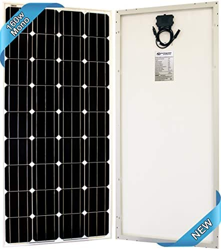 SEC 160 120 320 Watt Monocrystalline 160W 12V Solar Panel High Efficiency Mono Module RV Marine Boat Off Grid 160 WATT Mono 160WATT MONO