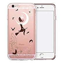 iPhone 6S Plus Case, SwiftBox Cute Cartoon Clear Case for iPhone 6/6S Plus (Halloween Witches)