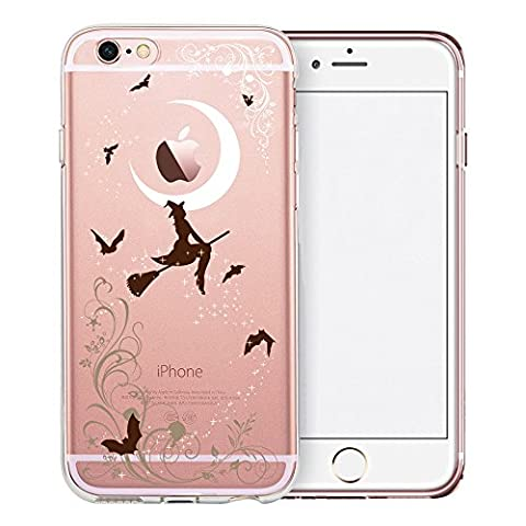 iPhone 6S Case, SwiftBox Cute Cartoon Clear Case for iPhone 6 6S (Halloween Witches)