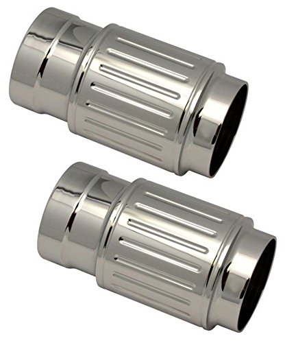 Pro-One Harley Bagger Ball Milled Chrome Billet Fork Slider Cover (Chrome Billet Fork Sliders)