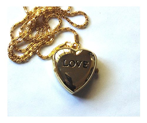 Watch Gold Love Heart Pendent