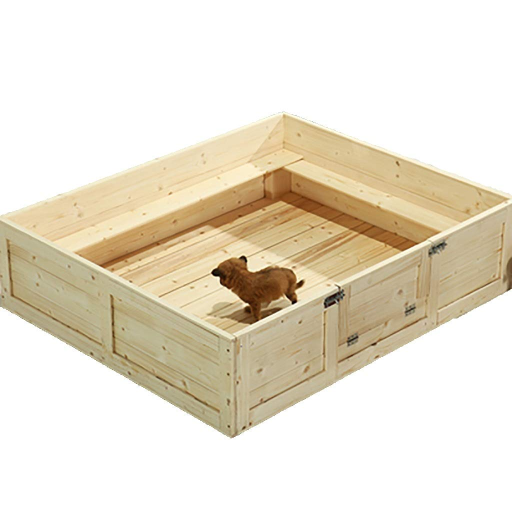 B 855530CMFPigSHS Kennel Dog bed Dog box pet bed Pet house Cat nest delivery room Pet supplies Indoor and outdoor Solid wood (color   B, Size   85  55  30CM)