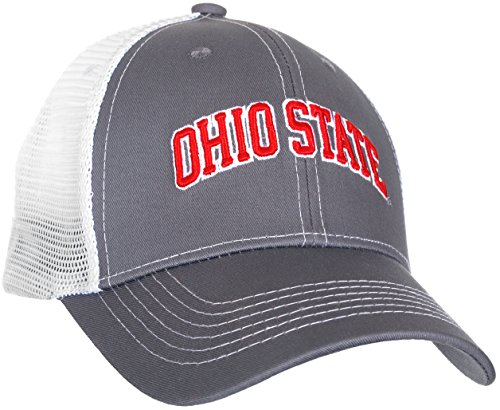 Ohio State Buckeyes Men's Gray Ghost Ball Cap (Caps Set Polo Team)