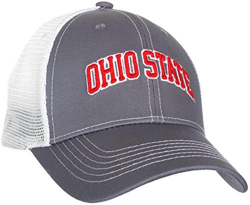 Ohio State Buckeyes Men's Gray Ghost Ball Cap (Team Caps Set Polo)