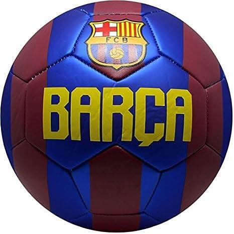Barca Balón de fútbol de piel tamaño 5, color rojo/azul: Amazon.es ...