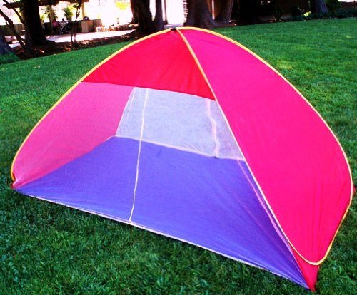 Brand New Summer Pop up Beach Tent Shade Cabana Play Tent with Pegs
