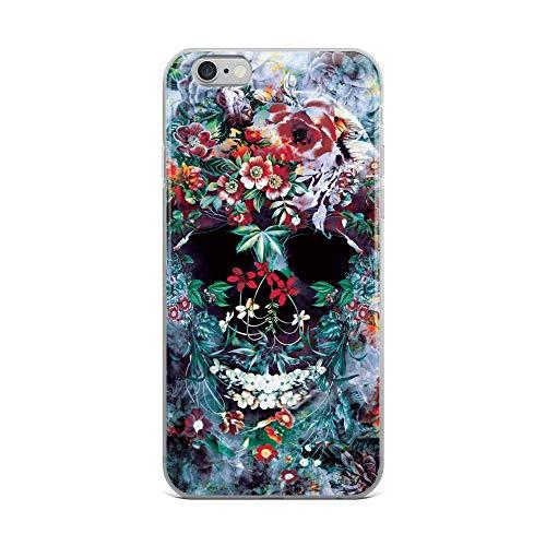 iPhone 6 Plus/6s Plus Case Anti-Scratch Phantasy Imagination Transparent Cases Cover Skull Flower Fantasy Dream Crystal Clear ()