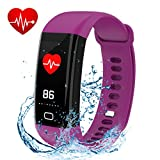 Fitness Tracker, Smart Watch Color Screen, Activity Tracker With Heart Rate Monitor, Calories track, Sleep Monitor, IP68 Waterproof Smart Bracelet Pedometer Wristband for Android and IOS
