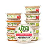 Pure Spoon Garden Fresh Organic''Simply'' Stage 1 Baby Food Sampler, 4.2oz (Pack of 10)