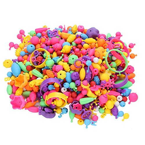 Kids Snap Beads Set - Creative DIY Jewelry Making Kit for Girls Necklace and Bracelet Art Crafts Gifts Toys - 500 Pcs