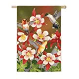 Flurry of Hummingbirds Vertical Flag For Sale