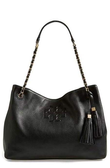9c5a8b30648 Tory Burch Thea Chain Slouchy Tote, Black: Amazon.ca: Shoes & Handbags