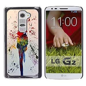 For LG G2 / D800 / D802 / D802TA / D803 / VS980 / LS980 Case , Colorful Paint Splashes Rainforest - Diseño Patrón Teléfono Caso Cubierta Case Bumper Duro Protección Case Cover Funda