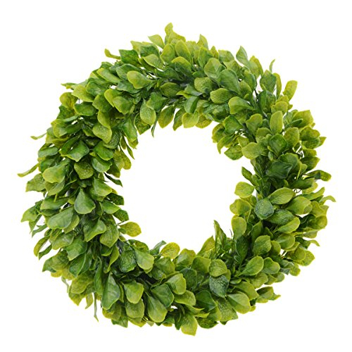 Saim 20''-21'' Artificial Round Wreath Spring Front Door Wreath Greenery Garland Home Office Wall Wedding Decor by Saim