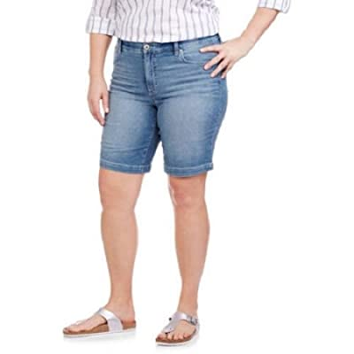 8ed958ee825 Faded Glory Comfort Waist Jean Shorts - Plus Size  1OeGr1113234 ...