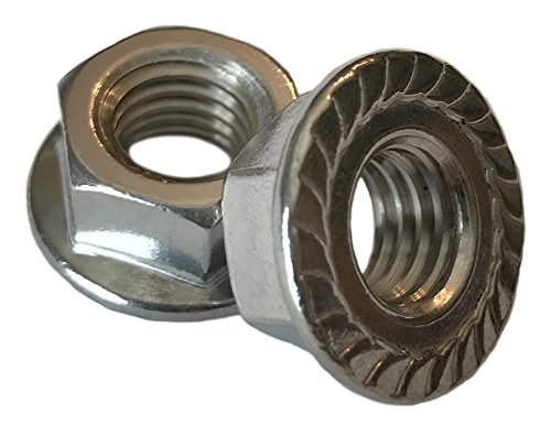Type 18-8 Stainless Steel Serrated Flange Nuts - Marine Bolt Supply (5/16-18 (Pack of (Bolt Nut Supply)