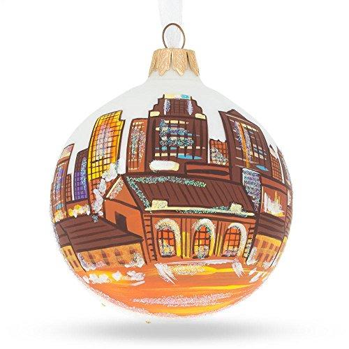 Kansas City, Missouri Glass Ball Christmas Ornament 3.25 Inches (City Christmas Kansas)