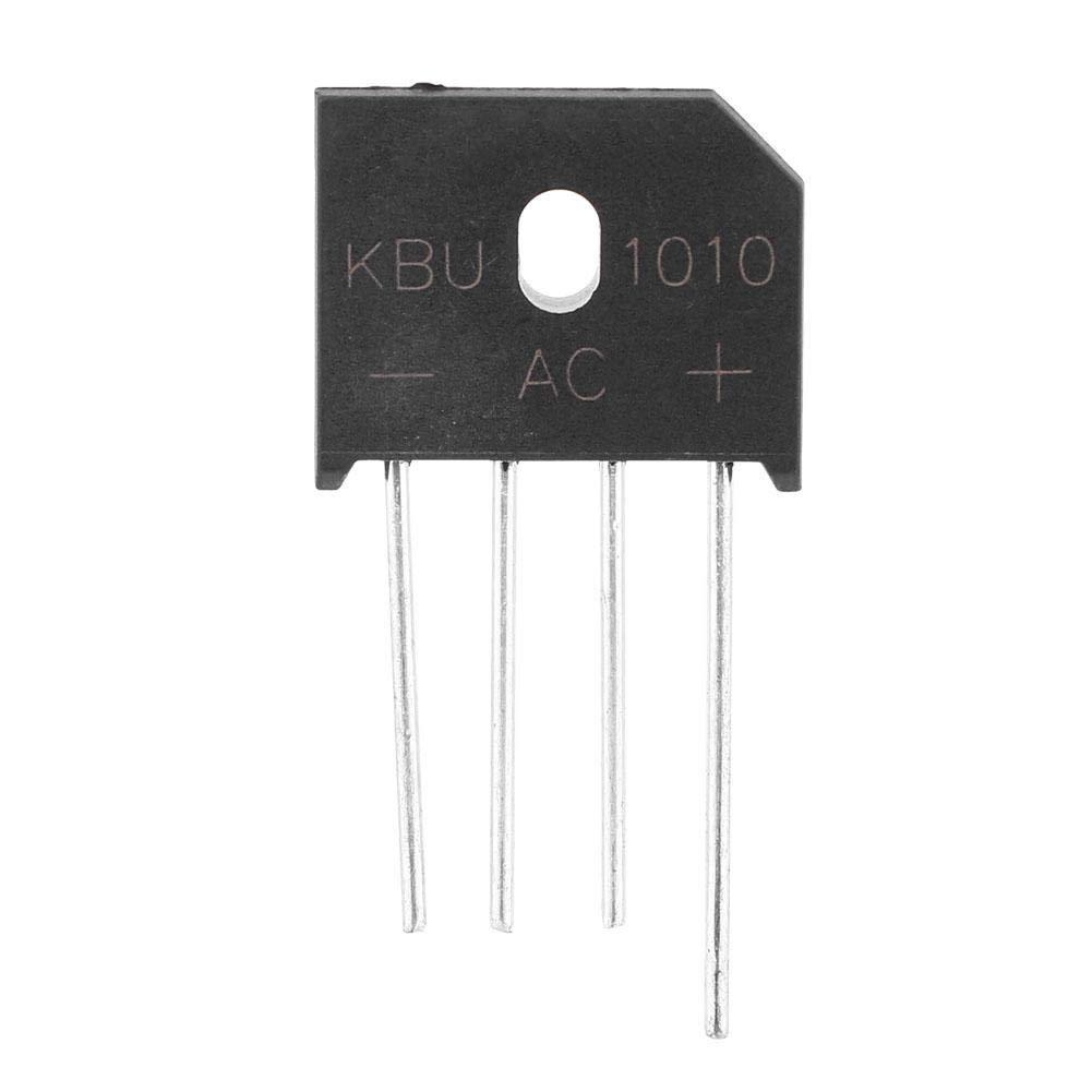 KBU1010 Bridge Diode Rectifier 10A 1000V 4-Pin for Power Adjustment Switch 1pc