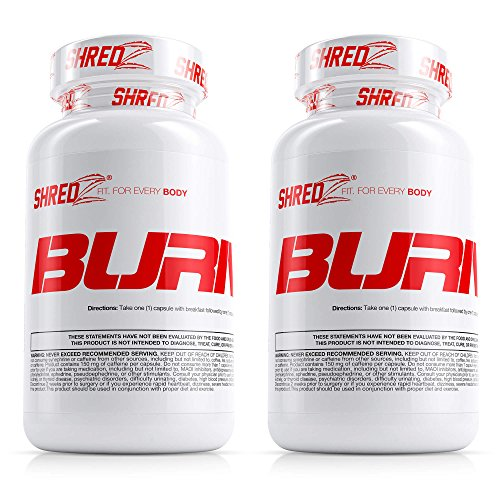 SHREDZ® Burner for Men (2 Months) – Lose Weight, Increase Energy, Best Way to Shed Pounds! 60 capsules by SHREDZ