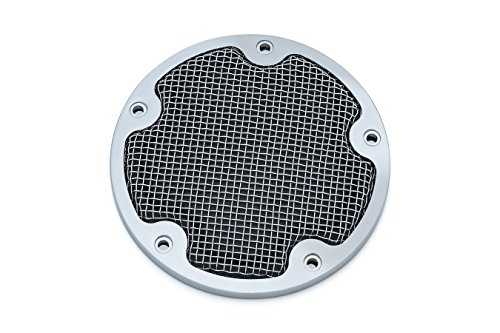 - Kuryakyn Mesh Derby Cover for '99-'17 Twin Cam. (Chrome)