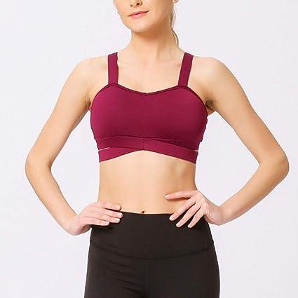Lilongjiao Sujetadores Deportivos Acolchados Desmontables para Mujer Soporte para Ejercicios de Yoga Bra 2 Pack: Amazon.es: Deportes y aire libre