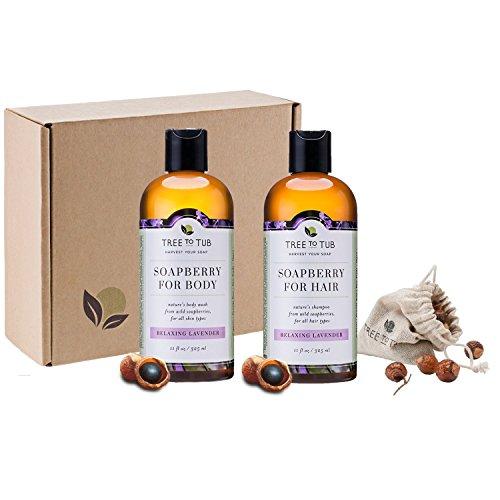 Sensitive Skin Body Wash & Shampoo Set - 3 pcs - Organic,...