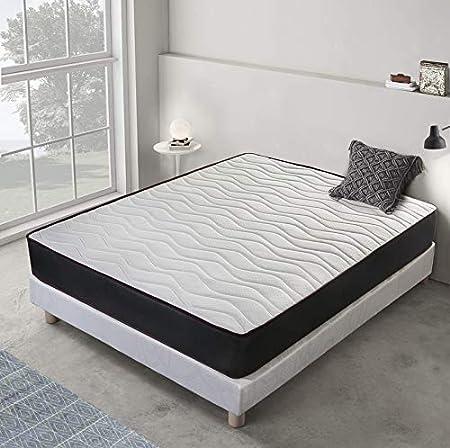 Home Heavenly®- Colchón Cloud viscoelástico, hipoalergénico, visco Adaptable con firmeza y Reversible, 18 cm de H, Cama (90 X 190 cm)