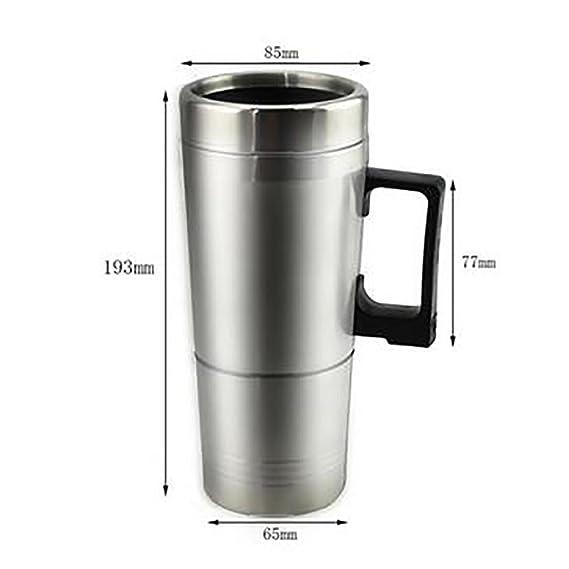 LPY-Tapón del cigarrillo del coche del viaje del acero inoxidable 12V Taza calentada Taza del agua caliente de las bebidas Calentador del té del café: ...