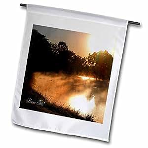 Beverly Turner Birthday Photography - Golden Morning, Happy Birthday in French (Canada), Bonne Fete - 18 x 27 inch Garden Flag (fl_43382_2)