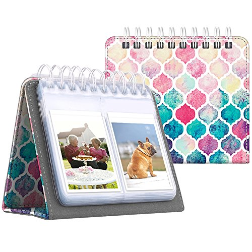 Fintie Calendar Photo Album for Fujifilm Instax - 64 Pockets Vegan Leather Photo Album for Fujifilm Mini 9 Mini 8+ Mini 90, HP Sprocket, Kodak Mini, Polaroid Camera 3-Inch Film (Moroccan Love) by Fintie