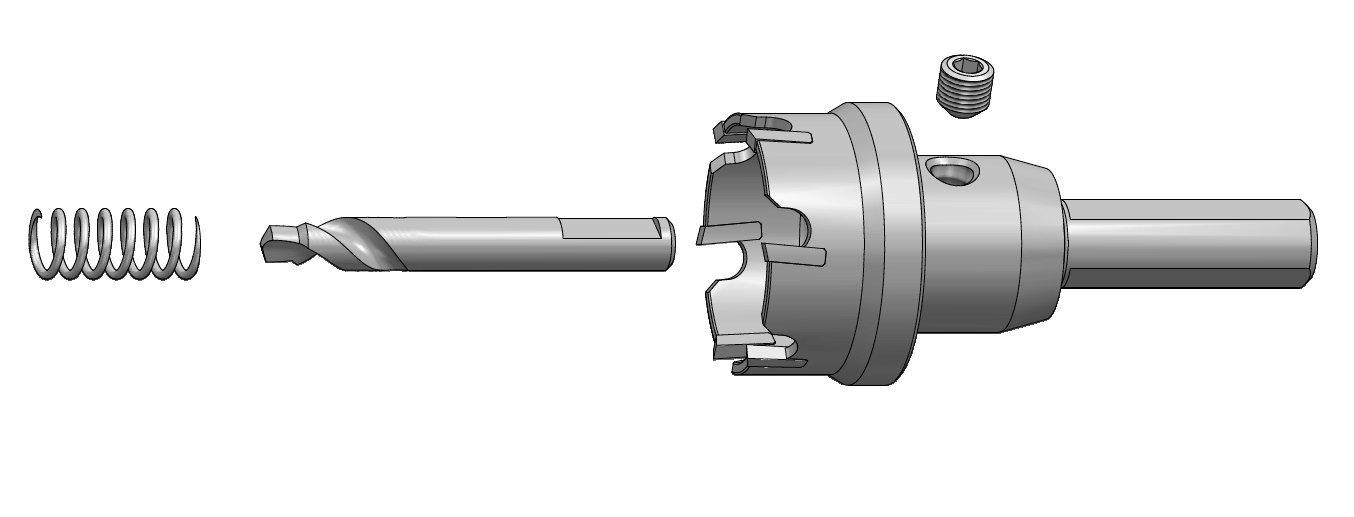 EZARC Sierra de Agujero Carburo la Perforaci/ón de agujeros en acero Inoxidable Tipo Profesional broca