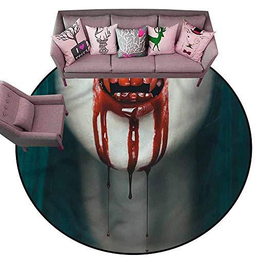 Floor mats for Kids Vampire,Bloody Teeth Horrifying Diameter 48