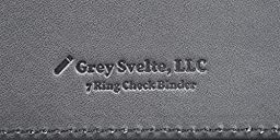 Grey Svelte Premium PU Leather Check Binder for Business 7 Ring 3 on a Page Checkbook Holder
