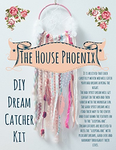 Pink DIY Dream Catcher Kit. The Perfect Craft Project. The Do It Yourself Gift of 2018. Boho Decor for Baby Girl's Nursery by The House Phoenix from The House Phoenix