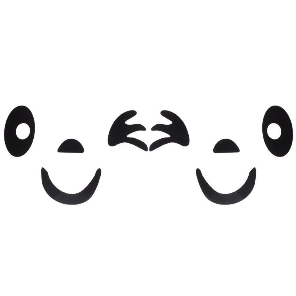 Boddenly DIY Smile Face Design 3D Car Side Mirror Rearview Sticker for Car Decoration 3.97''x2.67'' A