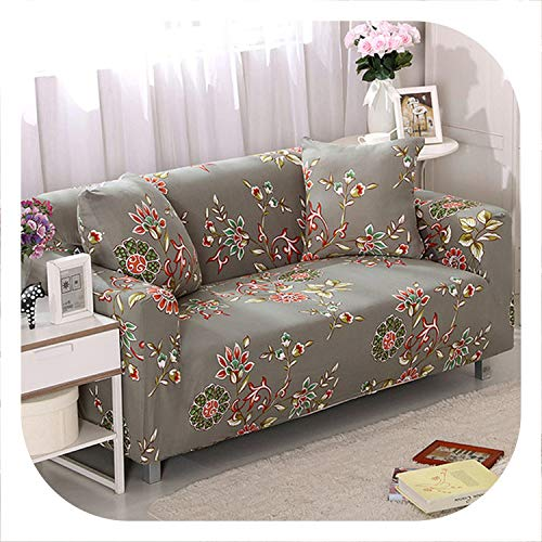 Stretch Sofa Cover Sofa Slipcovers Sectional Couch Cover Sofa Set Sofa Covers for Living Room housse canape 1/2/3/4 Seater,Color 13,Single Seat Sofa