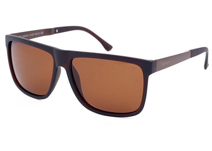 Gafas de sol polarizadas con diseño de lobo de color gris, cuadriculadas, para hombres
