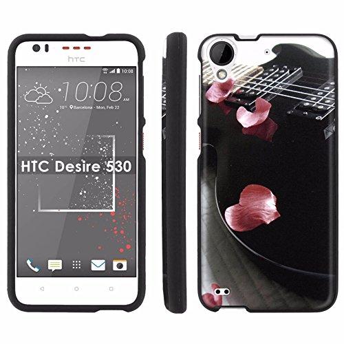 HTC Desire 530 [5-inch LCD] Phone Cover, Guitar Rose Petals - BLACK Slim Guard Armor Phone Case for HTC Desire 530 [5-inch ()