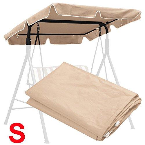 Yaheetech Waterproof Patio Swing Top Cover Canopy