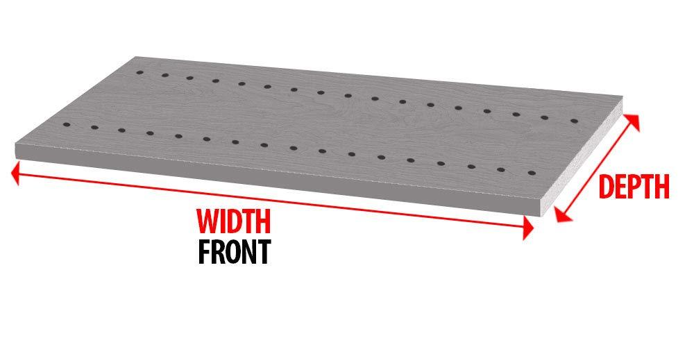 Pro Pack 2 - White Vertical Panels, White Melamine Drilled Board 3/4