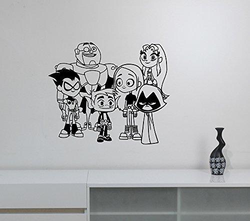 DC Comics Superhero Team Vinyl Wall Decal Robin Starfire Cyb