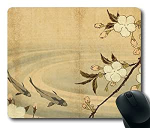 Japanese Carp Art Personlized Masterpiece Limited Design Oblong Mouse Pad by Cases & Mousepads
