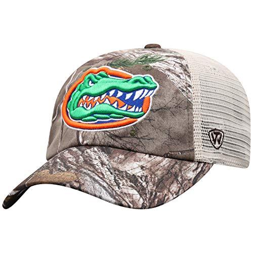 NCAA Florida Gators Men's Camo Stock Adjustable Mesh Icon Hat, Real Tree