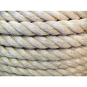 Westward Rope and Wire Sisal Natural Cuerda 6mm x 62m