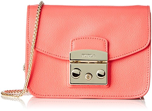 Furla Women's Metropolis Mini Crossbody Pinky Fluo Crossbody Bag