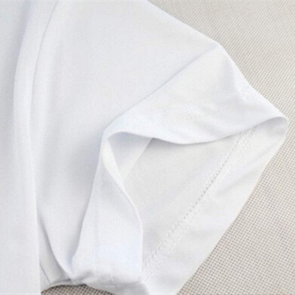 Guomao Sushi On Chopsticks Camiseta Hombre Camiseta Estampada Divertida Color : White, Size : S